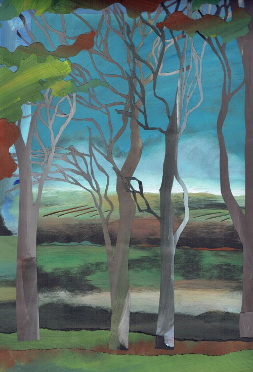 Norfolk Creative Arts Painted paper landscapes workshop with Vanessa Stone