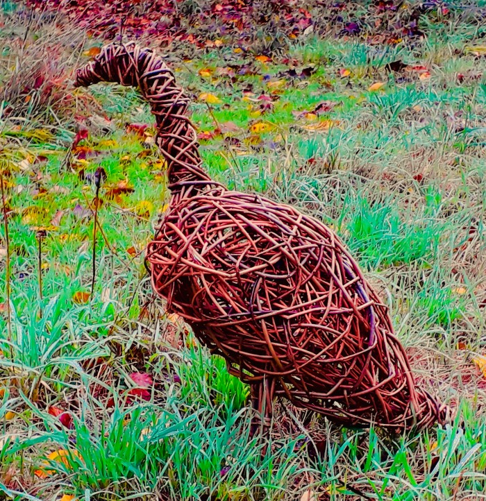Norfolk Creative arts Garden willow sculpture goose workshop