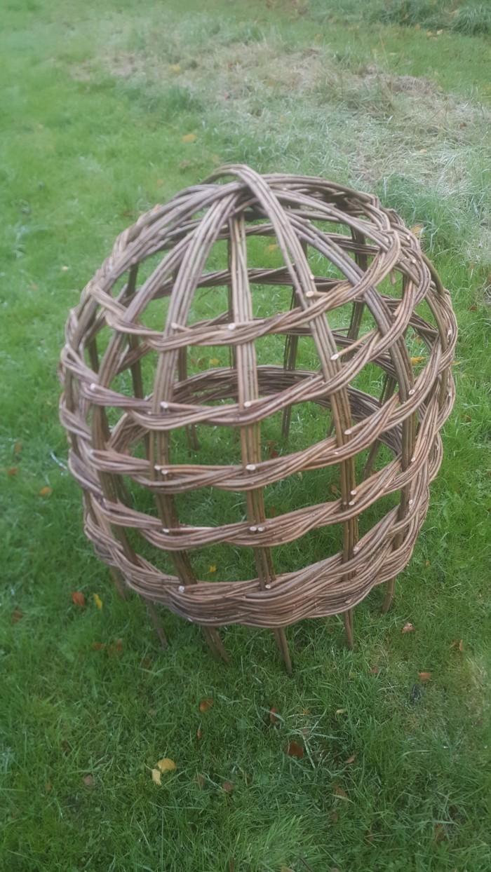 Norfolk Creative Arts Garden willow workshop Herbaceous support